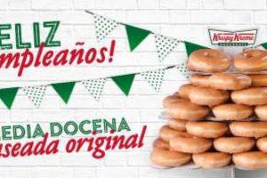 Krispy Kreme: Con Monedero Payback Media docena de Donas glaseada Gratis