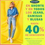 Old Navy 40% de descuento en Shorts, jeans y blusas
