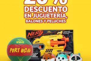 Soriana Mercado: 20% de descuento en juguetería, balones y peluches