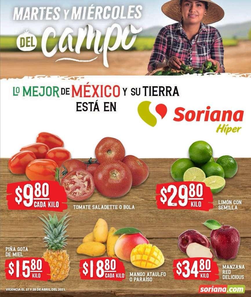 Folleto Soriana Martes y Miércoles del Campo 27 y 28 de abril 2021