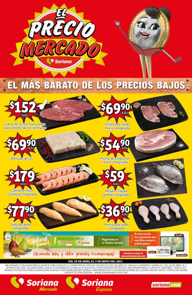 Folleto Soriana Mercado fin de semana 30 de abril al 3 de mayo 2021