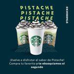 Starbucks: Cupón 2x1 en bebidas pistache mocha