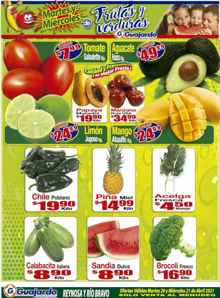 Ofertas Super Guajardo frutas y verduras 20 y 21 de abril 2021
