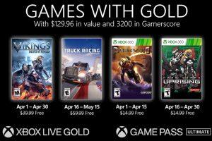 Juegos de Xbox con Games with Gold abril de 2021