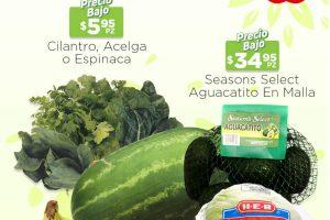 Ofertas HEB frutas y verduras del 25 al 31 de mayo 2021