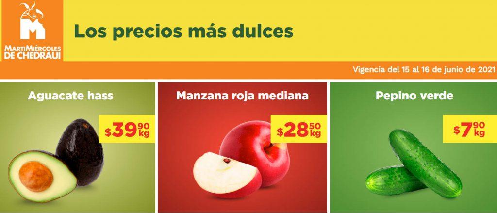 Ofertas Chedraui frutas y verduras 15 y 16 de junio 2021