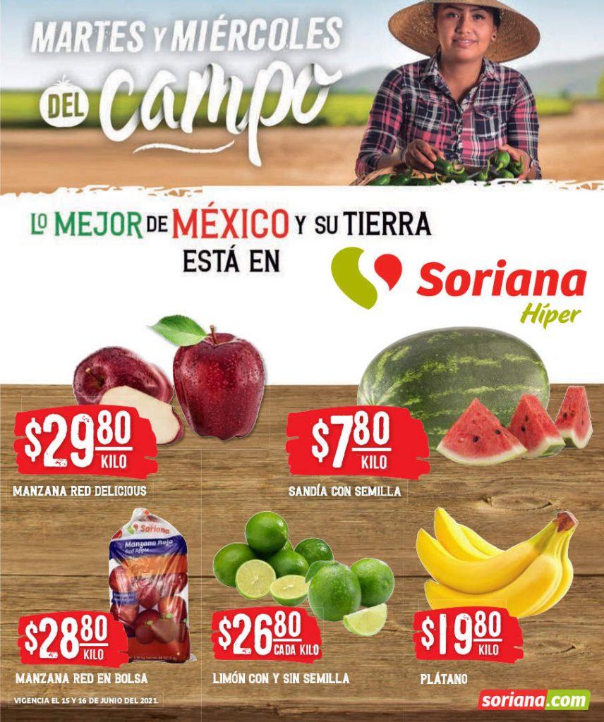 Folleto Soriana Martes y Miércoles del Campo 15 y 16 de junio 2021