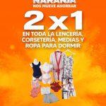 Temporada Naranja 2021: 2×1 en lencería, corsetería, medias y ropa para dormir