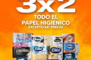La Comer Temporada Naranja 2021: 3×2 en papel higiénico