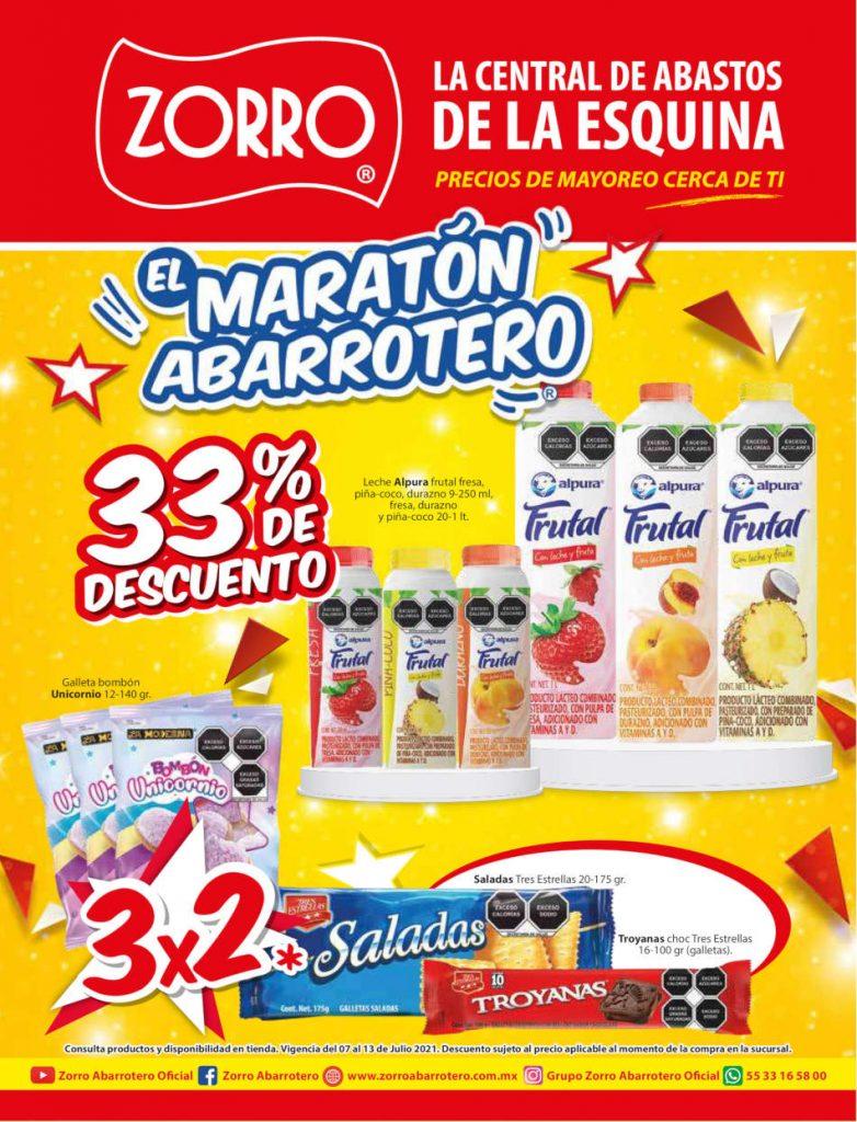 Folleto Zorro Abarrotero ofertas del 7 al 13 de julio 2021