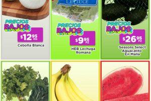 Ofertas HEB Frutas y Verduras del 13 al 19 de julio 2021