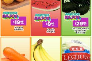 Ofertas HEB frutas y verduras 27 de julio al 2 de agosto 2021