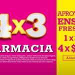 Julio Regalado 2021: 4×3 en farmacia