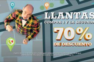 Julio Regalado 2021: Llantas al 70% de descuento en segunda compra