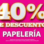 Julio Regalado 2021: 40% de descuento en papelería