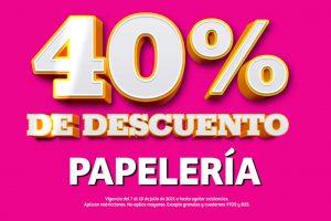 Soriana Julio Regalado 2021: 40% de descuento en papelería