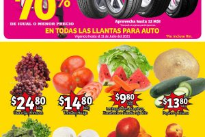 Folleto Soriana Mercado frutas y verduras del 6 al 8 de julio 2021