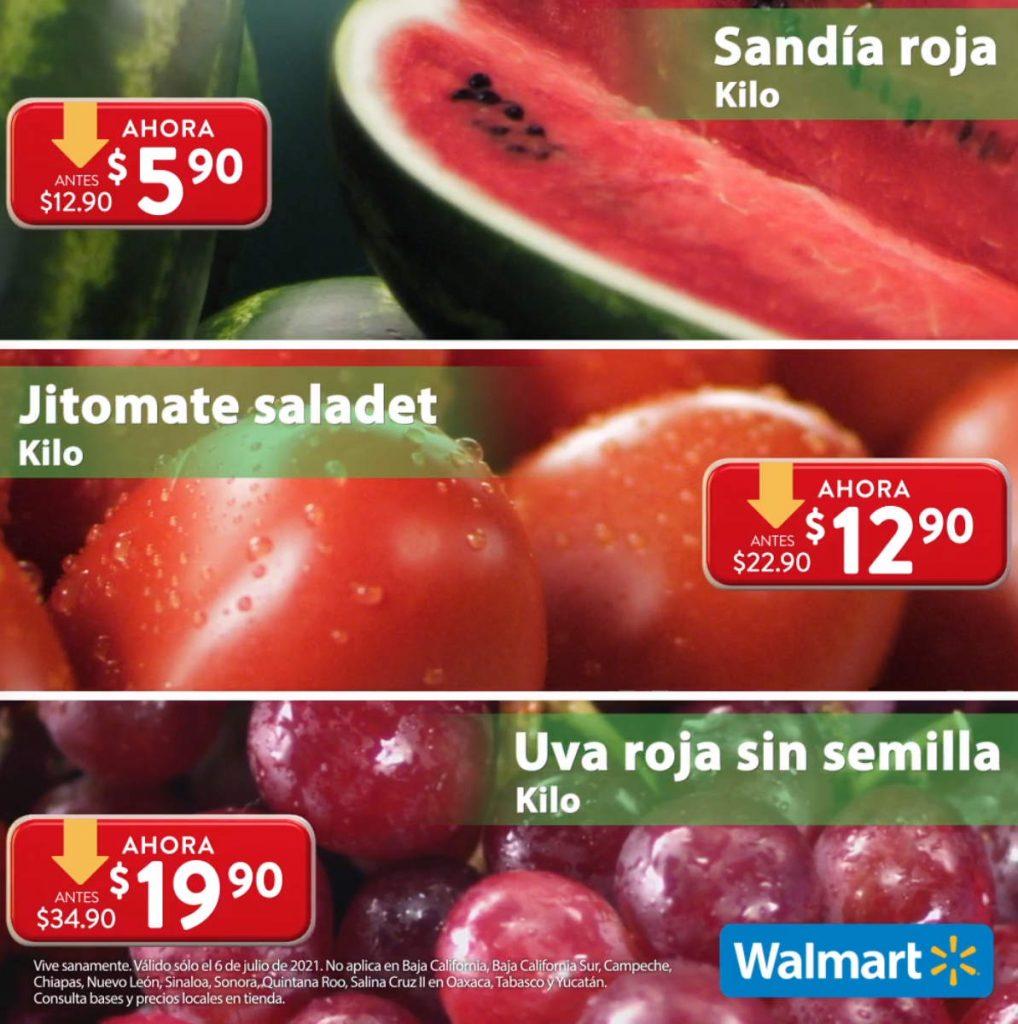 Folleto Martes de Frescura Walmart 6 de julio 2021
