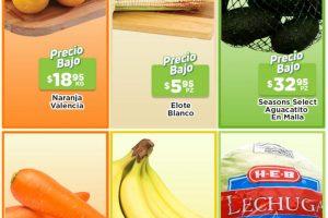 Frutas y Verduras HEB del 3 al 9 de agosto de 2021