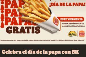 Promoción Burger King Día de la Papa: Llévate unas Papas gratis