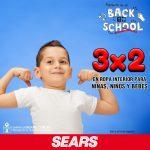 Sears: 3×2 en ropa interior para niñas, niños y bebés