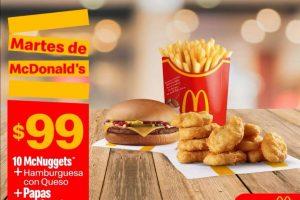 Cupones McDonalds Promociones Martes 14 de septiembre 2021