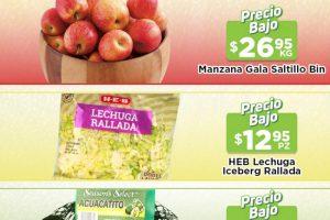 Ofertas HEB frutas y verduras del 14 al 20 de septiembre 2021