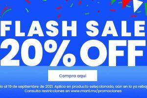 Promoción Flash Sale Martí 20% de descuento en lo ya rebajado