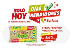 Ofertas Soriana Días Rendidores 30 de septiembre 2021