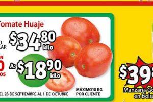 Folleto Soriana Mercado frutas y verduras 28 y 29 de septiembre 2021