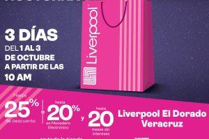 Venta Nocturna Liverpool 2021 del 1 al 3 de octubre