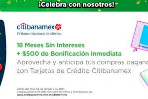 Compras Nocturnas Bodega Aurrera: 18 MSI +$500 de Bonificación con Citibanamex